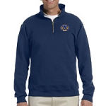 Maryland Mason Grand Masters Logo Jerzees 50/50 Cotton/Poly Blend 1/4 Zip Pullover - 9.5 oz.