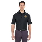 German Society of Maryland UltraClub Men's Platinum Honeycomb Piqué Polo