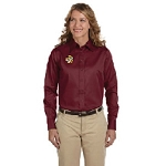 German Society of Maryland Harriton Ladies' Easy Blend™ Long-Sleeve Twill Shirt with Stain-Release