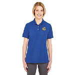 German Society of Maryland UltraClub Women's Platinum Honeycomb Piqué Polo
