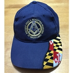 Maryland Mason Custom Made Grand Lodge AF & AM Mason Cap